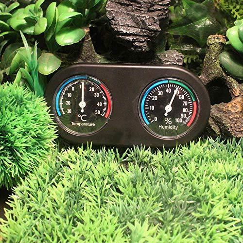 Thermometer Für Terrarien Volwco Echtzeit Testen Und Schnelles Lesen Dual Dial Thermometer Und Luftfeuchtigkeit Messen Mechanische Induktion Stumm Reptilien Hygrometer