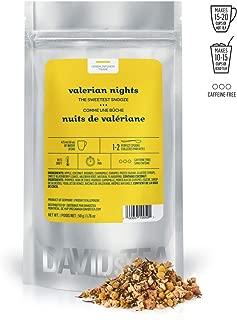 DAVIDsTEA Valerian Nights Loose Leaf Herbal Tea, Premium Relaxing Sleep Tea with Valerian Root, Coconut and Caramel, 50 grams / 2 ounces