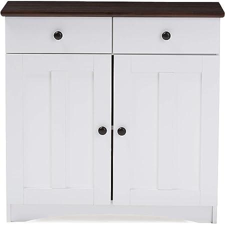 Amazon Com Baxton Studio Dr 883400 White Wenge Cabinet White Dark Brown Buffets Sideboards