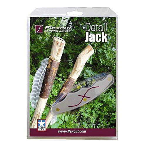 Flexcut Detail Jack, with Ergonomically Designed Pistol Gripped Handel, Single Detail Knife, (JKN90)