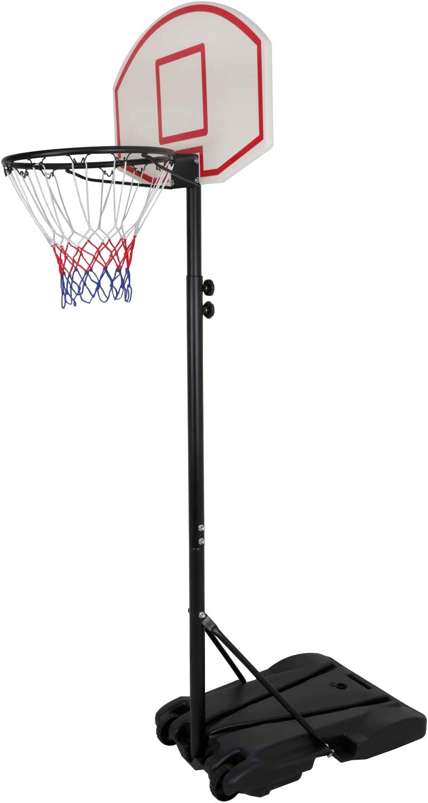 7FT Basketball Hoop Rim Movable Stand for Kid Junior Practice Shoot with Wheels