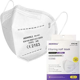 Ffp2-maskers CE-gecertificeerd 5-laags Ffp2-masker 95% filters door oren zonder klep Verpakking van 20 stuks