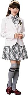 [DECORA PINKY'S] 卒業式 小学生 女の子 スーツ (ガールズフォーマル 5点セット) 子供服 [チェックスカート リボン付き] ジュニア ガールズ 全6色 (150cm~165cm)