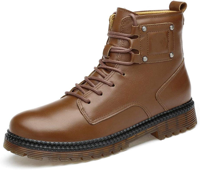 Stövlar (stövlar) (stövlar) (stövlar) för män (stövlar) Plus sammet Keep Warm Tooling stövlar Fall  Winter ny Casual läder stövlar (färg  A, Storlek  45)  mest föredragna