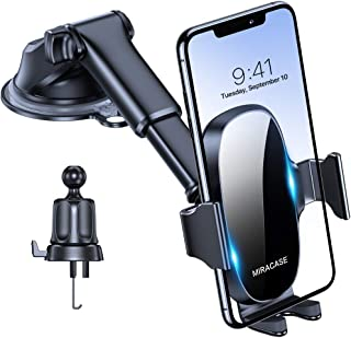 Miracase 4-in-1 Cell Phone Holder for Car, Universal Car Phone Holder Mount for Dashboard Air Vent Windshield Compatible w...
