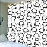 QWEFGDF Tapices de dormitorio Decoración de tapiz utilizada para decoración de fondo 130x150 cm Cordero blanco