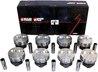 Speed Pro TRW Chevy 350 383 Forged Flat Top 2VR Pistons Set of (8) for 5.7 Rod (4.030