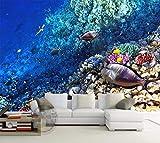 Papel Pintado,Papel Tapiz Mural 4D Personalizado,Cómic Fondos Marinos Pescados Animal Mar Ver La Pintura De La Pared De Fondo Sofá Tv Wall Papers Hd Arte Imprimir Póster Para La Habitación De Los