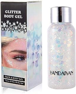 GL-Turelifes Mermaid Sequins Chunky Glitter Liquid Eyeshadow Glitter Body Gel Festival Glitter Cosmetic Face Hair Nails Ma...