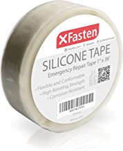 XFasten Silicone Self Fusing Tape 1-Inch x 36-Foot (White) Silicone Repair Tape