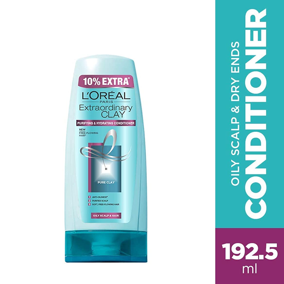 風味吸ういつでもL'Oreal Paris Extraordinary Clay Conditioner, 175ml (With 10% Extra) (Loreal Ship From India)