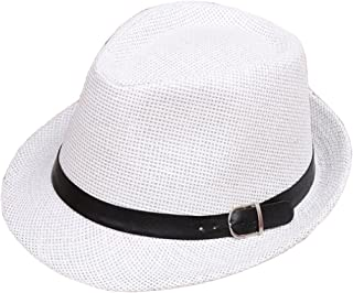 3e4ec2c7d88 Unisex Parent-Child Straw Hat Fedora Sun Hat Jazz Hat Panama-Hats