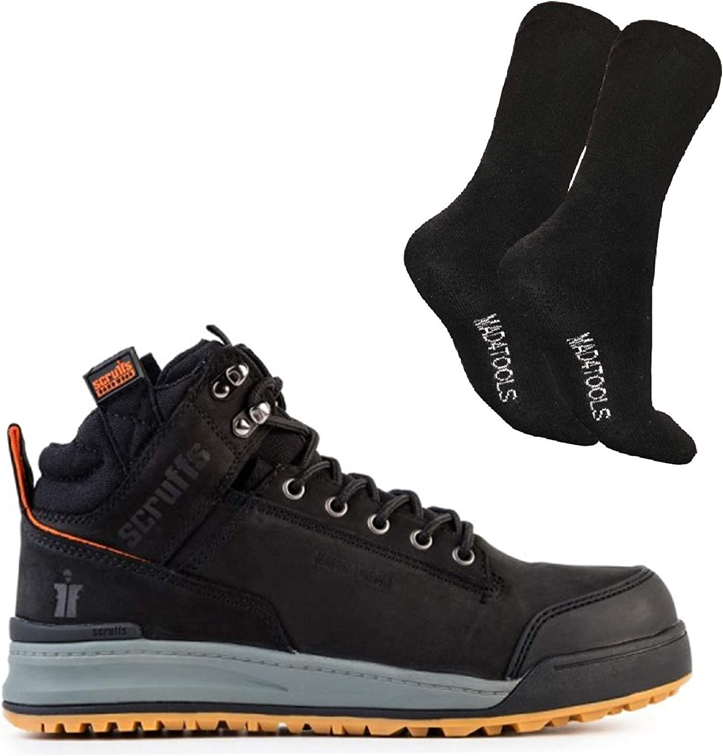 Scruffs Switchback Safety Boots and Boot Socks