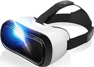 WWT VR ゴーグル ヘッドセット 3D 360°動画 高解像度ディスプレイ ヘッドマウントディスプレイ VR動画 映画 ゲーム PC テレビ 洗濯可能 近視対応 microSD miniHDMI Wi-Fi Bluetooth 日本語説明書付き こどもの日 母の日 父の日 プレゼント