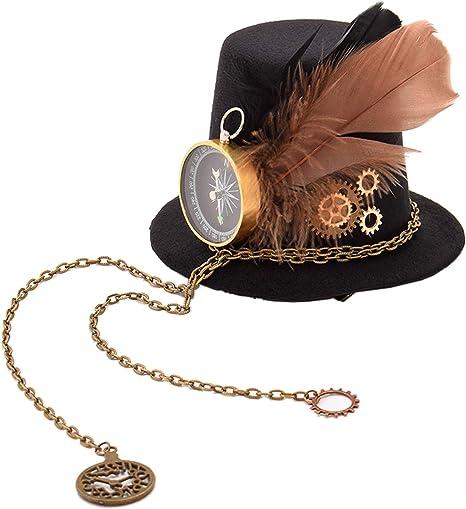 Steampunk Accessories | Goggles, Gears, Glasses, Guns, Mask GRACEART Steampunk Accessories Mini Top Hat Headwear (C)  AT vintagedancer.com