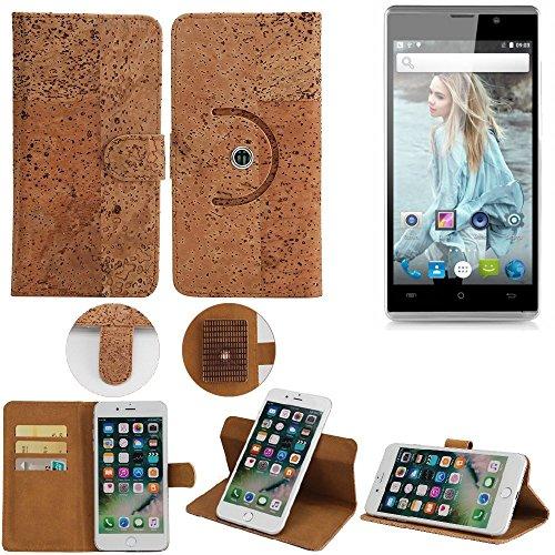 K-S-Trade® Schutz Hülle Für Cubot P11 Handyhülle Kork Handy Tasche Korkhülle Schutzhülle Handytasche Wallet Case Walletcase Flip Cover Smartphone Handyhülle