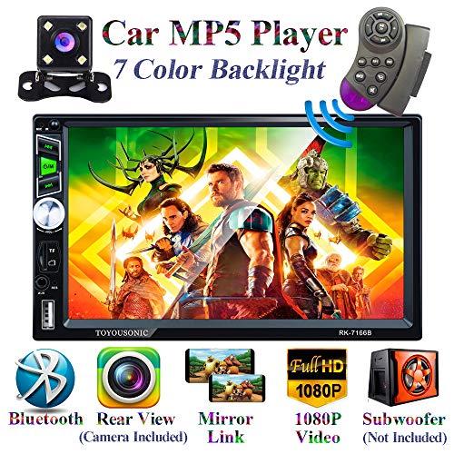Honboom Autoradio Autoradio 2 DIN con per Touchscreen HD da 7 pollici Supporto Chiamata Vivavoce Bluetooth / Collegamento specchio / FM / USB / Scheda TF / AUX-in (Telecamera posteriore inclusa)