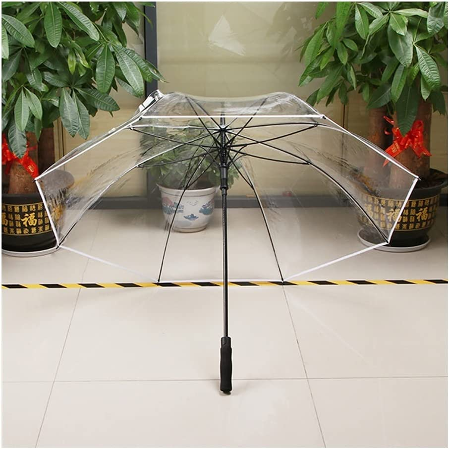 Outlet SALE WYH Automatic Credence Transparent Clear Travel Umbrella Garden