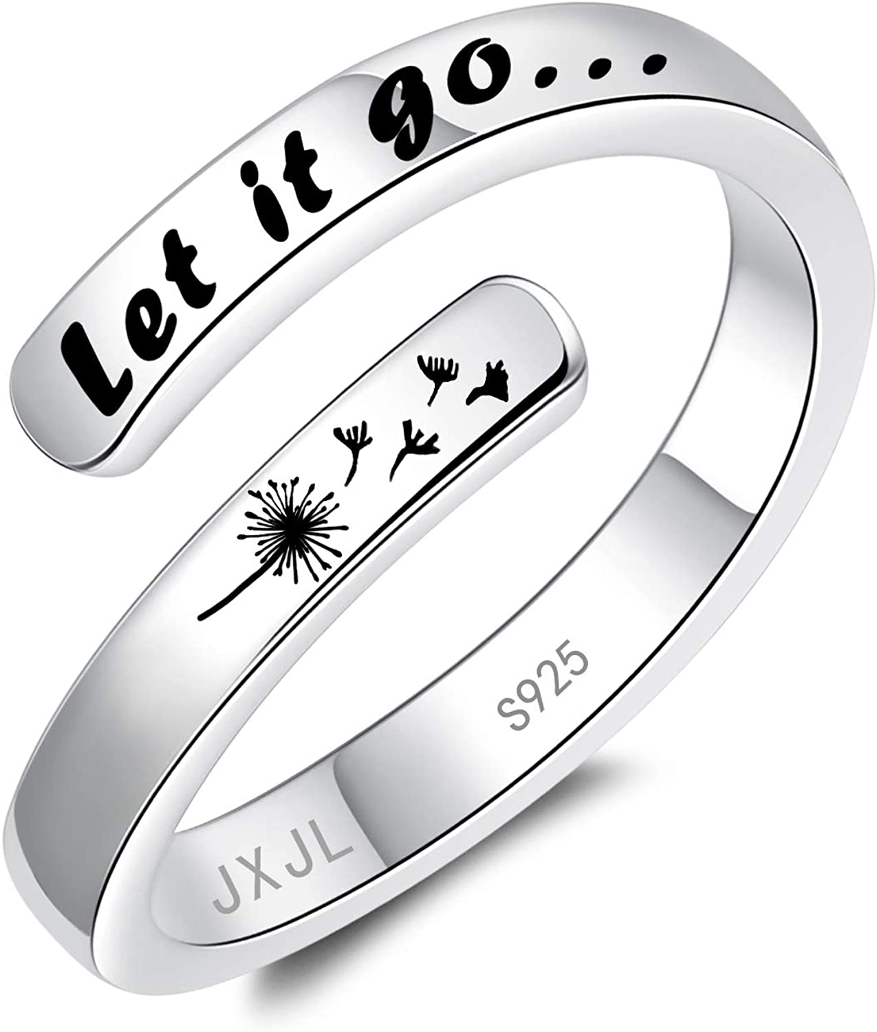 JXJL Silver Adjustable Ring I Sterling Enough Challenge the lowest price 925 Mesa Mall Am Inspiration