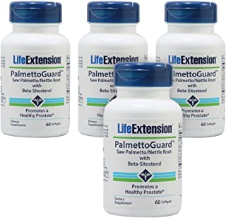 Life Extension PalmettoGuard Saw Palmetto/Nettle Root Formula with Beta-Sitosterol - 60 Softgels - 4-Pak
