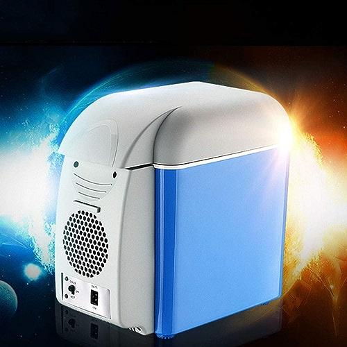 WERT Glacière électrique Portable pour Voiture Bureau Et Camping 12V 230V Double Usage Mini Réfrigérateur Très Silencieux Isotherme Chaud Froid, B2(7.5L)