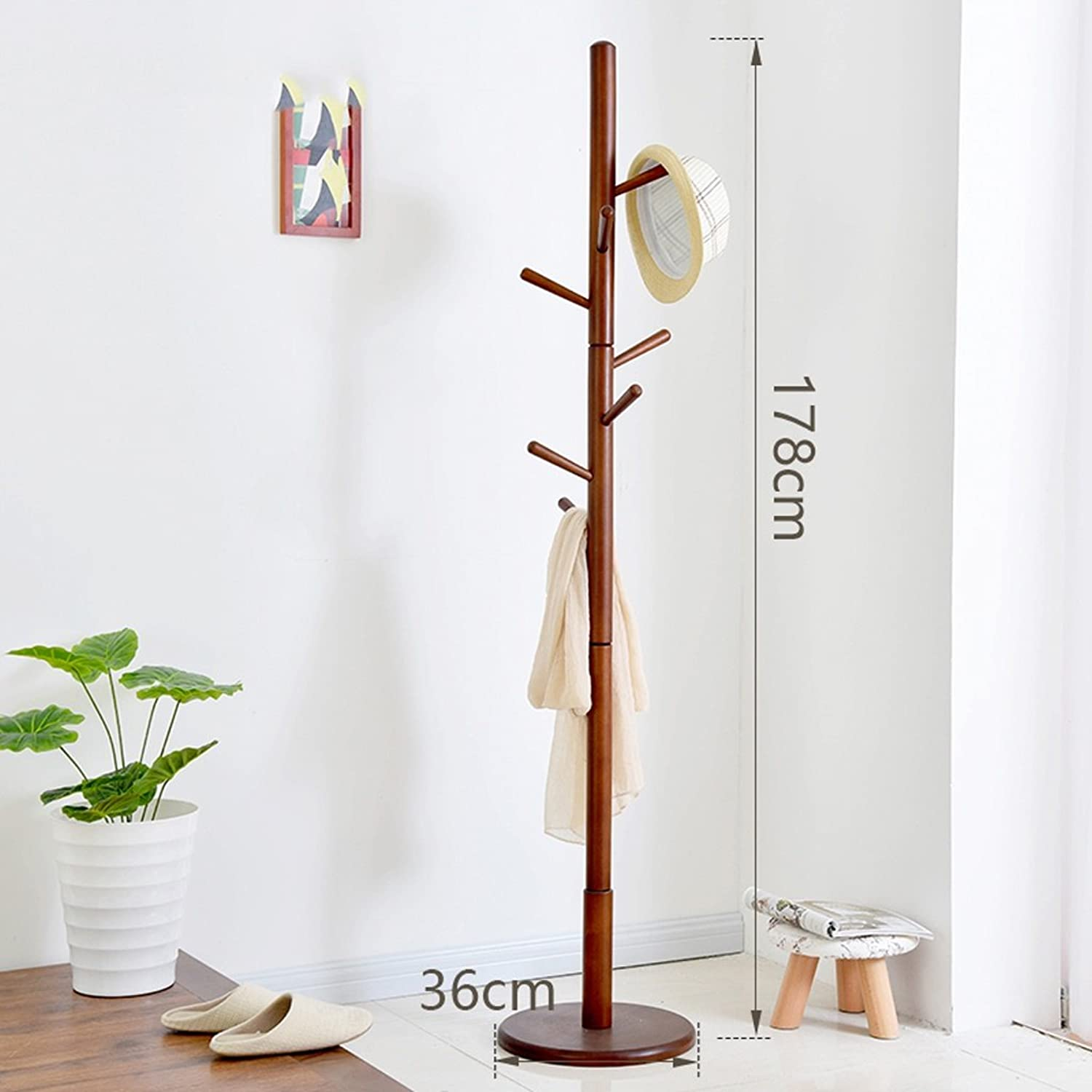 Jia Jia- Coat Rack - European Creative Simple Coat Rack, Floor Hangers, Bedroom, Hall Solid Wood Hangers Modern Coat Rack (color   D)