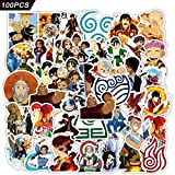 Avatar The Last Airbender Stickers 100pcs Lnight Movie Stickers Skateboard Stickers Vinyl Waterproof Stickers for Kids Adults Teens Hydroflask Luggage Car Laptop