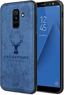 Samsung A6 Plus Case Samsung A6 Plus Phone Cover Shockproof Snow-Proof Dirt-Proof Full Body Phone Protector Cover for Samsung A6 Plus with 3D Imprinted Deer Samsung A6 Plus Cover Waterproof(Blue)