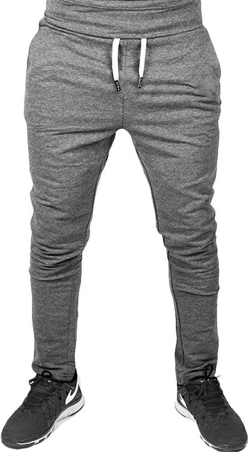 Men's Cargo Pants Slim Fit Casual Jogger Pant Chino Trousers Sweatpants with Pockets (Large,Dark gray)