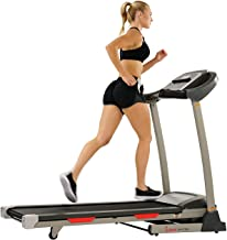 Sunny Health & Fitness Portable Treadmill with Auto Incline, Tablet Holder, Pulse Grips, 220 LB Max Weight and Shock Absorbers - SF-T7705