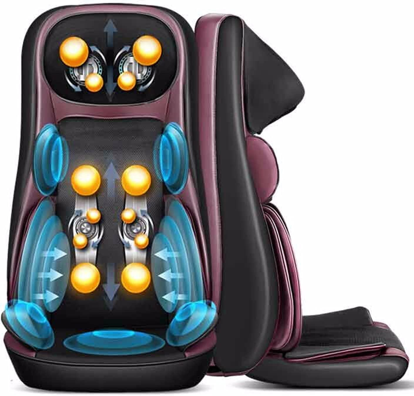 Fly YUTING Shiatsu Back Massager with Vibrating Chair Pad Heat Super intense SALE Credence