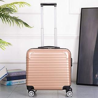 Trolley case Universal Wheel Password Box Compact Mini Zipper Suitcase Gold 20 inch