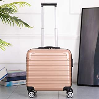 Trolley case Universal Wheel Password Box Compact Mini Zipper Suitcase Gold 20 inch