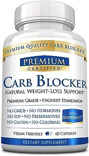 Carb Blocker Premium -100% Pure White Kidney Bean - Decrease Fat Absorption, Regulate Blood Sugar, Suppress Carb Cravings ...