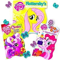 My Little Pony Board Books for Toddlers Girls - Set of Three MLP Toddler Books (Featuring Pinkie Pie, Twilight Sparkle, Rarity, Rainbow Dash and More)