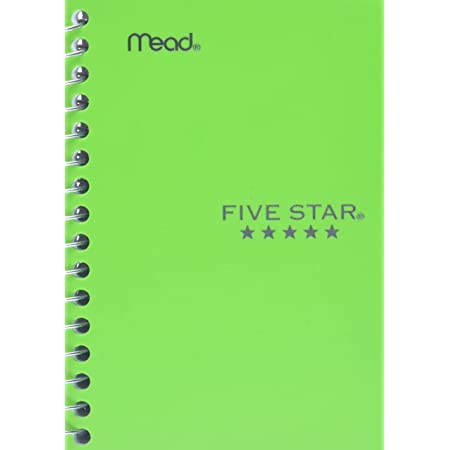 "Five Star Spiral Notebook, Fat Lil' Pocket Notebook, College Ruled Paper, 200 Sheets, 5-1/2"" x 3-1/2"", Color Selected For You, 1 Count (45388)"