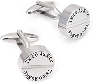 SCF-2118 Yinox Boutons de manchette ronds en acier inoxydable 316L Cadeau danniversaire pour papa Coffret cadeau inclus