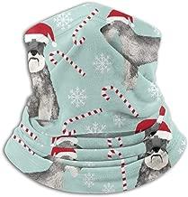 Schnauzer Christmas Candy Cane Snowflakes Dogs Cute Schnauzers Neck Gaiter, Headwear, Face Sun Mask, Magic Scarf, Bandana, Balaclava, Headband for Fishing, Motorcycling, Running, Skateboarding, Moist