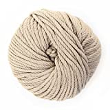 JubileeYarn Bamboo Cotton Chunky Yarn - Sand Cliff Brown - 2 Balls