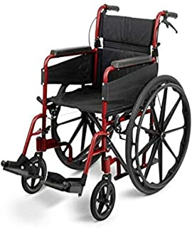 Days Escape Wheelchair, Self Propelled, Standard, Ruby Red
