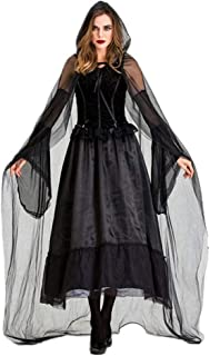 Halloween Dresses Dark Witch Adult Rave Party Girl Cosplay Costume Dress KANULAN