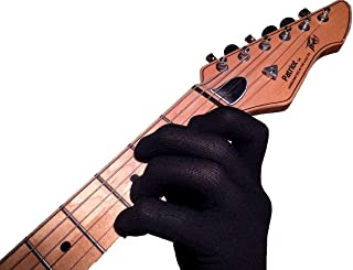 Guitar Glove, Bass Glove, Musician Practice Glove -L- 2 Pack - fits either hand - COLOR: BLACK
