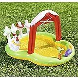 GLLP Piscina para niños, Piscina, Almohadillas para niños, Piscina Inflable para niños, Sub Ocean Ball Pool, Niños Infantiles Farm Pool Pool, Piscina de Spray Garden, Sprinkler Kids WTZ012