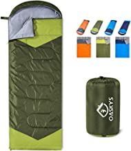 oaskys Camping Sleeping Bag – 3 Season Warm & Cool Weather – Summer,..