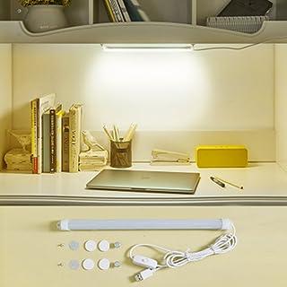 Luz de lectura para dormitorio, 6 W ajustable LED tira lámpara de escritorio, interruptor USB de protección ocular tubo lámpara (blanco mate)