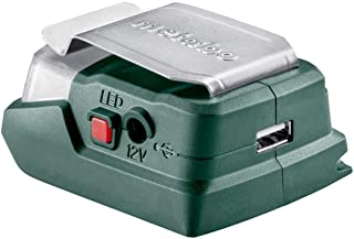 Metabo Powermaxx PA 12 Accu-poweradapter (led-USB, met ledlicht, 12 V, multifunctionele adapter, bruikbaar als laadstatio...