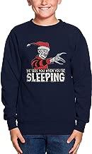 He Sees You When You're Sleeping Toddler Fleece Crewneck Sweater