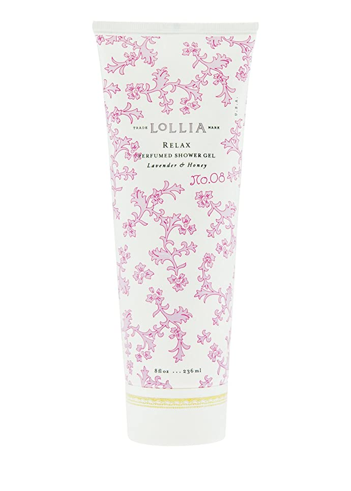 リム量バージンロリア(LoLLIA) パフュームドシャワージェル Relax 236ml(全身用洗浄料 ボディーソープ ホワイトオーキッド、タヒチアンバニラ、ハチミツ、アンバーの香り)