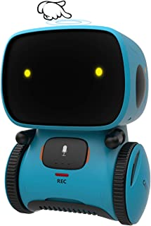 GILOBABY Robot Toys for Kids, Talking Interactive Voice Controlled Touch Sensor Smart Robotics with Singing, Dancing, Repeating, Speech Recognition and Voice Recording, Gift for Kids Age 3+ (Blue)