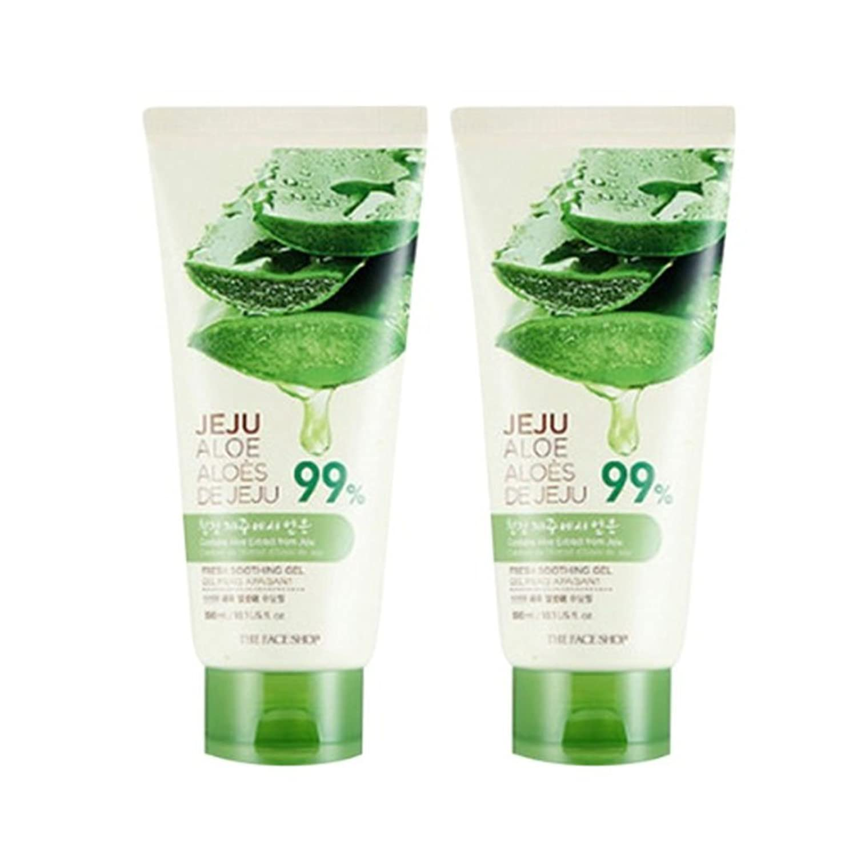 ザ?フェイスショップ済州アロエ新鮮なスーディングジェル300ml x 2本セット韓国コスメ、The Face Shop Jeju Aloe Fresh Soothing Gel 300ml x 2ea Set Korean Cosmetics [並行輸入品]